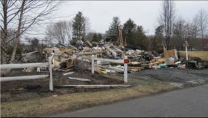 Home burned due to faulty propane generator.